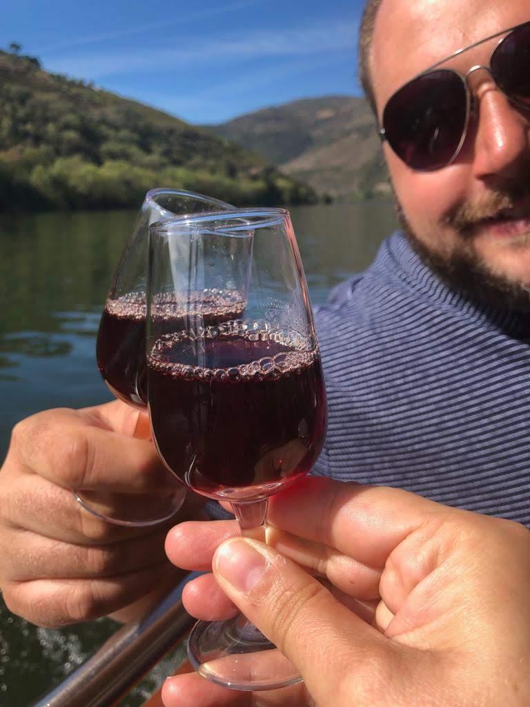 Port-Tasting auf Boot bei Pinhao auf Douro-Tal Tour